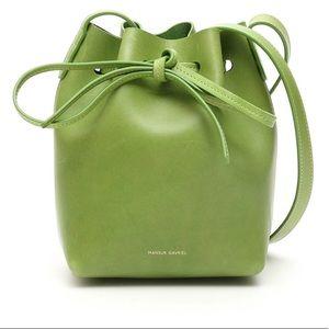 Mansur Gavriel Mini Verde Raw Bucket Bag